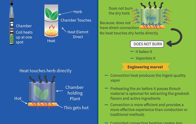 Conduction VS Convection Infographic