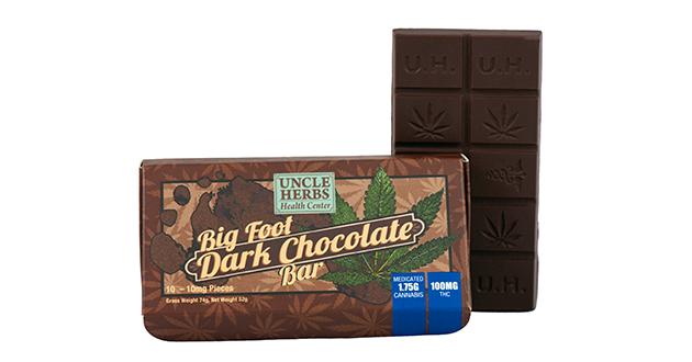 Big Foot Dark Chocolate Bar 100mg