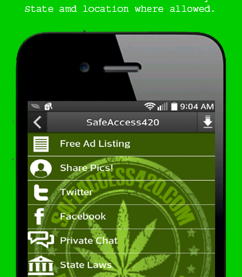 Safe Access 420 publishes a free app for android loaded with extra features!