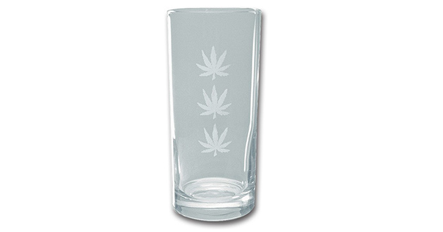 The Marijuana Pint Glass