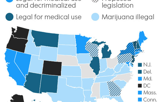 Marijuana Map of the United States