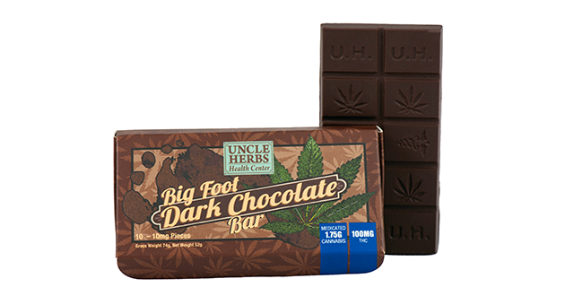 Big Foot Dark Chocolate Bar 100mg