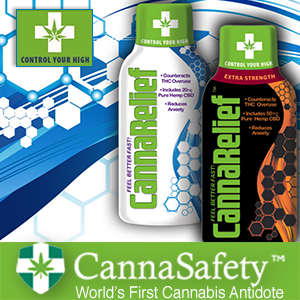 CANNASAFETY LAUNCHES CANNARELIEF, THE WORLD'S FIRST CANNABIS ANTIDOTE THAT QUICKLY AND EFFECTIVELY REDUCES THC ANXIETY