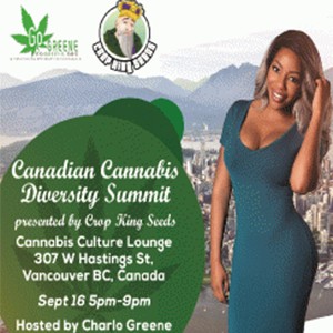 Charlo Greene Announces Partnership with Crop King Seeds for Canadian Cannabis Diversity Summit