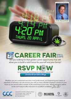 CLEVELAND CANNABIS COLLEGE TO HOST CANNABIS CAREER FAIR ON APRIL 20