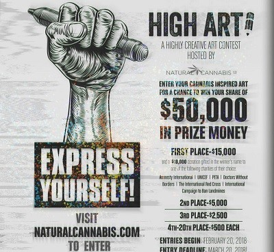 HIGH ART CONTEST CLOSES MARCH 20TH, GIVING ARTISTS LESS THAN ONE WEEK REMAINING TO ENTER