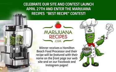 MARIJUANA RECIPE LAUNCHES NEW WEBSITE WITH HUNDREDS OF CANNABIS INFUSED AND NON-CANNABIS RECIPES AND VIDEOS