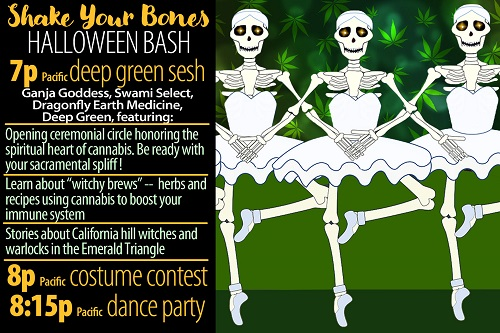 Earthdance.TV invites you to its virtual Halloween Bash, Oct. 31;  7 to 9:30 pm Pacific Time